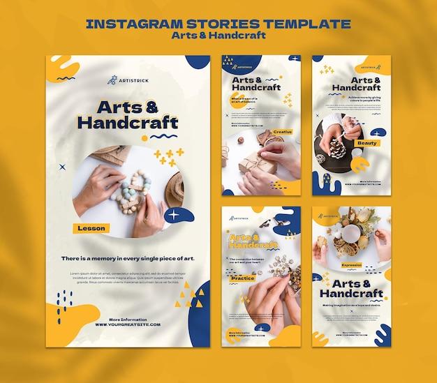 Arts and handcraft insta stories design template