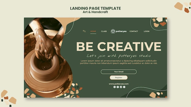 Arts and handcraft landing page template