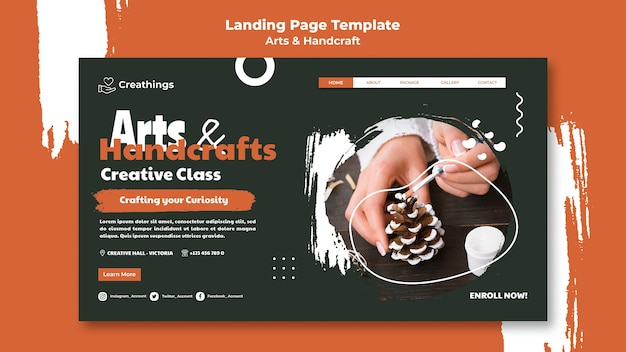 Arts and handcraft landing page