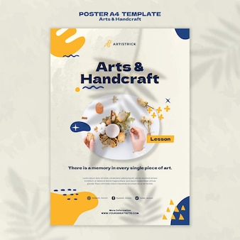 Arts and handcraft poster design template
