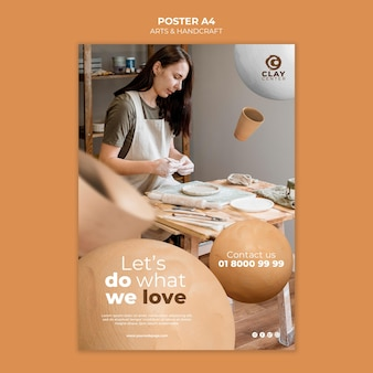 Modello di poster di arti e artigianato