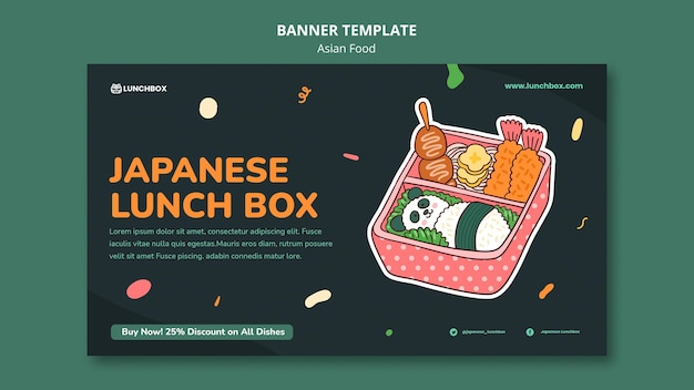 Asian food banner template