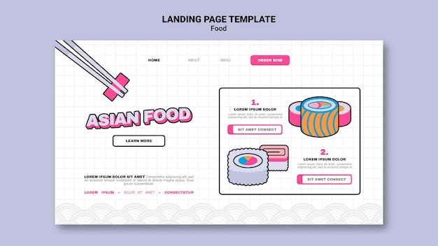 Asian food landing page template