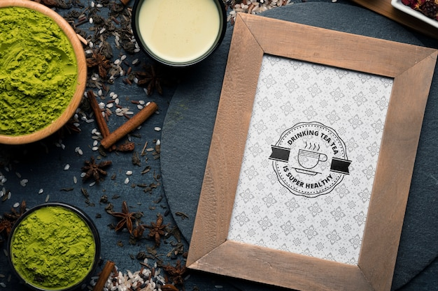 Азиатский чай ингредиенты на столе