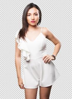 아시아 여자 포즈