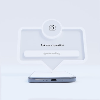 Задать вопрос: рамка интерфейса для публикации в социальных сетях
