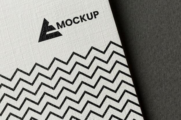 Assortimento di mock-up del marchio su carta