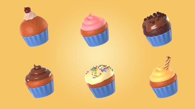 Assortment of cupcakes mock-up
