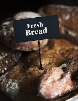 Assortment of fresh bread food photography recipe ideas