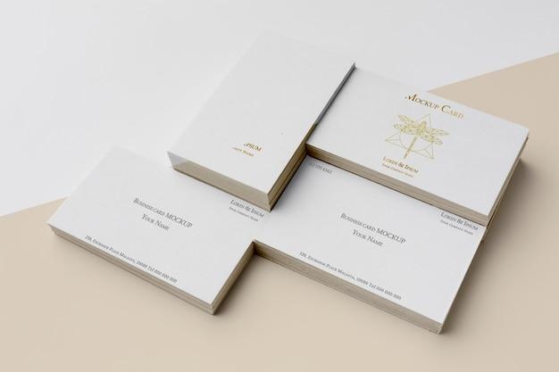 Assortment of mock-up business card