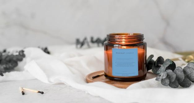 Assortimento di confezioni di candele mock-up