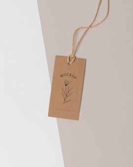 Assortment of mock-up cardboard tag