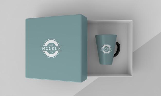 Assortment of mock-up mug box