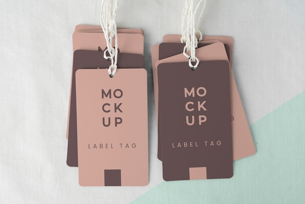 Assortment of mock-up paper tags