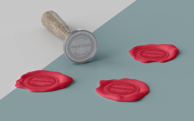 Assortment of mock-up seal for envelope