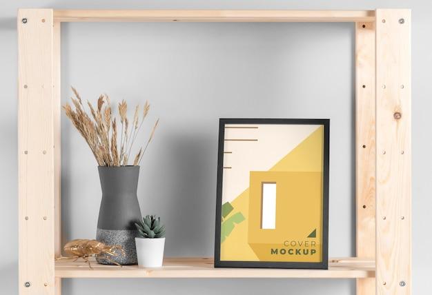 Assortment of modern mock-up frame