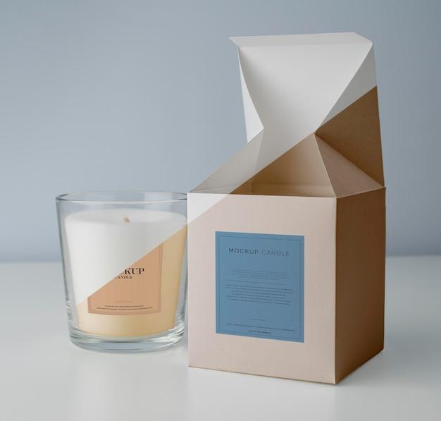 Ассортимент макетов свечей упаковки