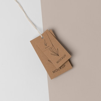 Ассортимент макета картонной бирки