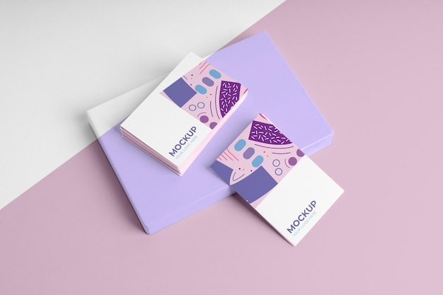 Ассортимент макетов выкройки визитной карточки