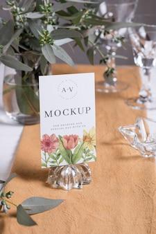 Assortimento di carte mock-up per matrimoni