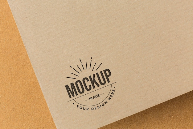 Assortment with company branding card mock-up