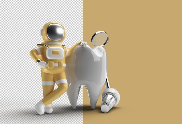 치과 임플란트 수술 개념 투명 psd 파일 우주 비행사