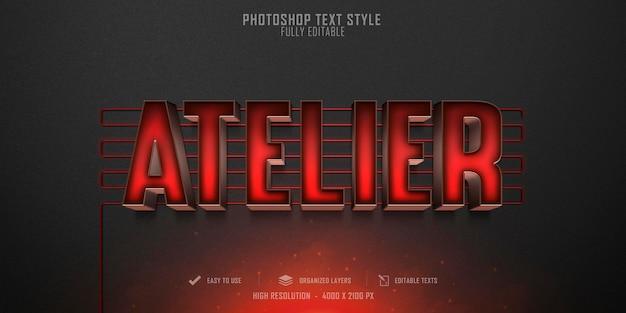 Atelier 3d text style effect template design
