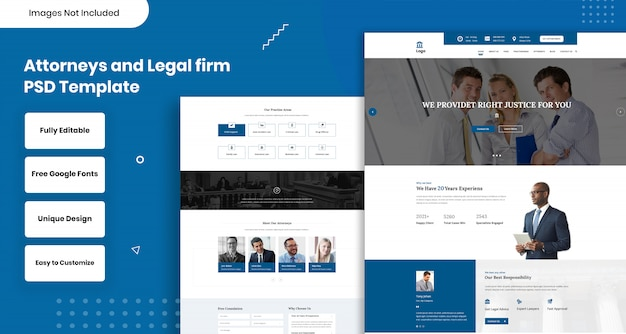 Attorneys and legal firm web template