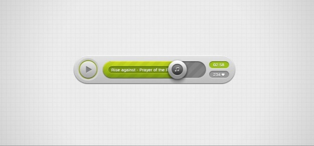 Audio player psd
