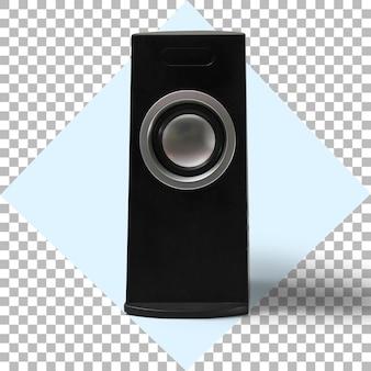 透明な背景の上のオーディオスピーカー