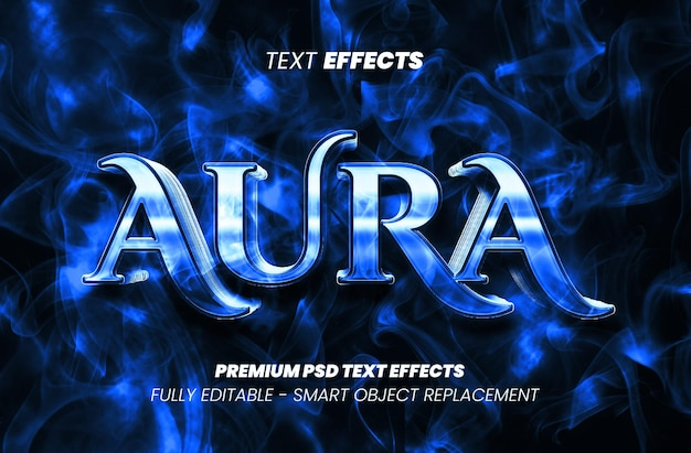 Текстовый эффект ауры