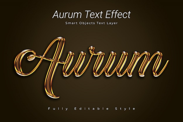 Aurum text effect