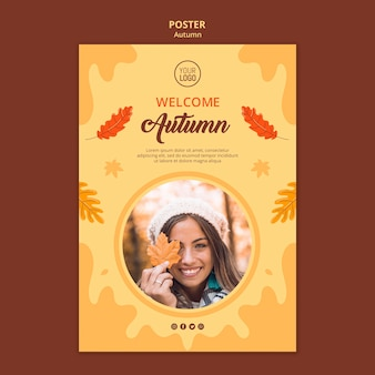 Autumn ad poster template
