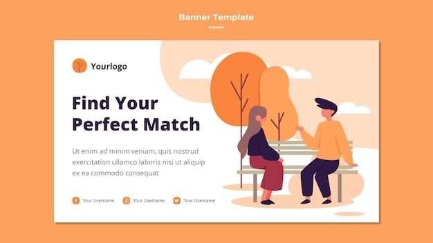 Autumn banner template style