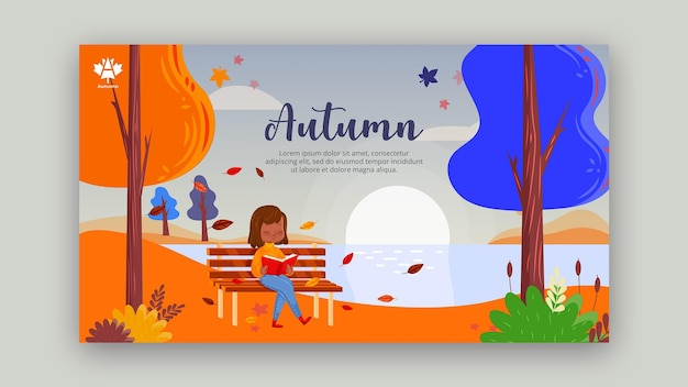 Autumn concept banner template design