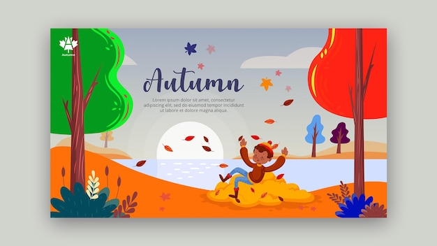 Autumn concept banner template style