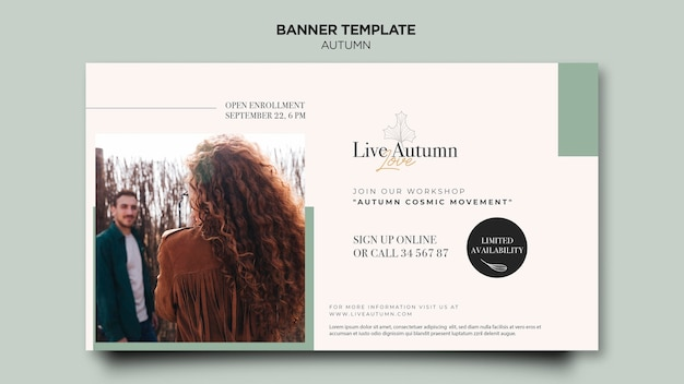 Autumn concept banner template