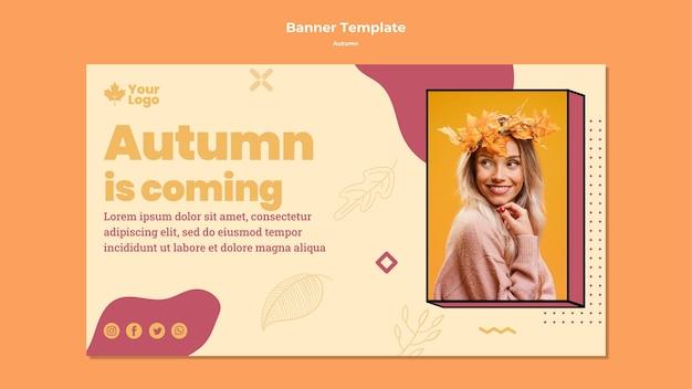 Autumn concept bannertemplate