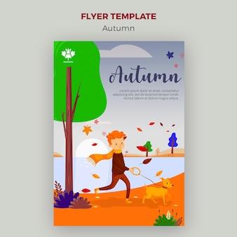 Autumn concept flyer template design