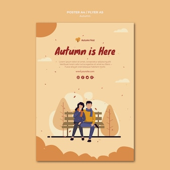Autumn concept flyer template
