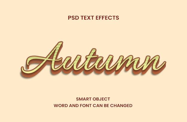 Осенняя концепция для текстового эффекта