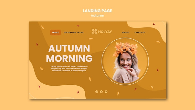 가을 컨셉 방문 페이지 템플릿