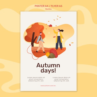 Autumn concept poster template