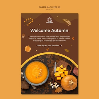 Autumn fest flyer template