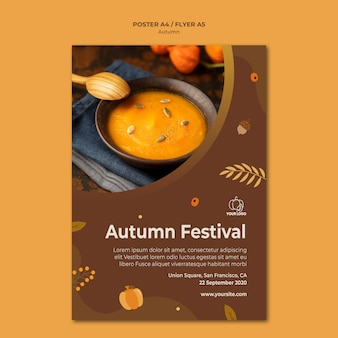 Autumn fest template flyer