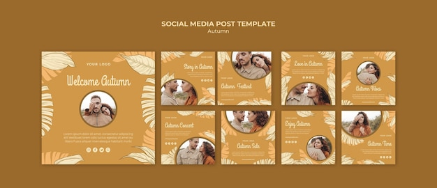 Autumn festival social media post