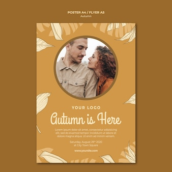 Autumn is here flyer print template