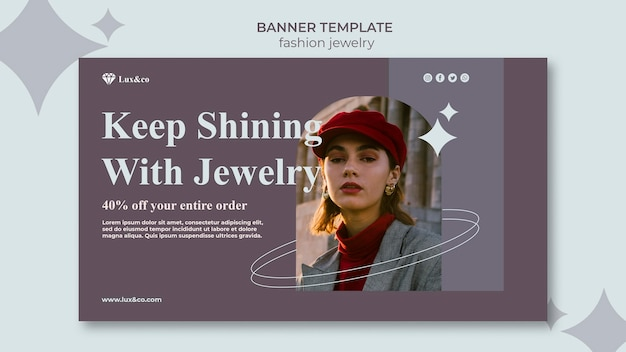 Autumn jewelry template with photo