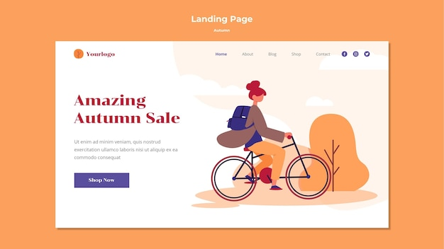 Осенний дизайн целевой страницы