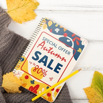 Autumn leaves and seasonal special sales